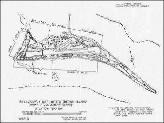 Betio Island Map 1943