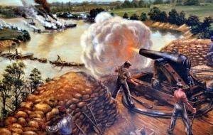 Artillery atop Drewry's Bluff