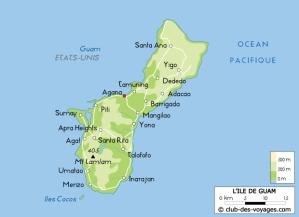 Map of Guam 1941