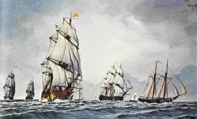 Continental Fleet At Sea