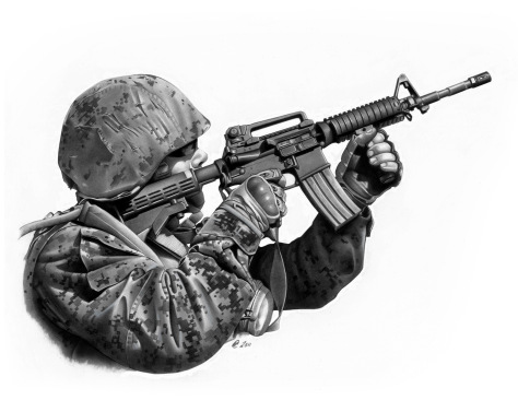 24th Marine Expeditionary Unit table 3 rifle range shoot