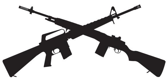 crossed rifles 001