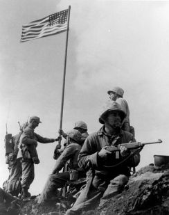 First Iwo Jima Flag