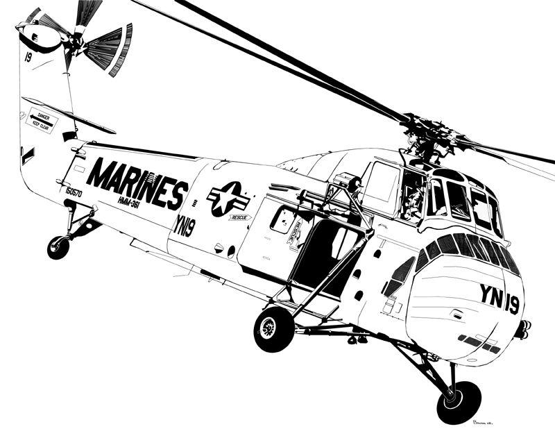 USMC H-34 D
